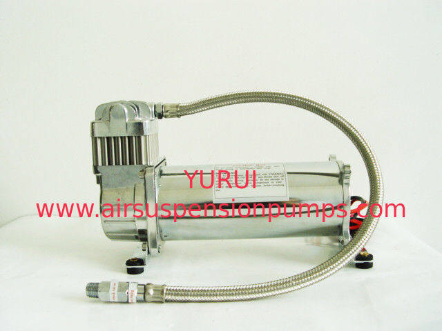 Pewter Stainless Load Hose Single Suspension Air Compressor YURUI 6455BR
