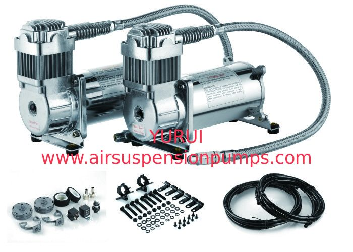 12V Dual  200 PSI Steel Air Ride Suspension Compressor dual tank air compressor