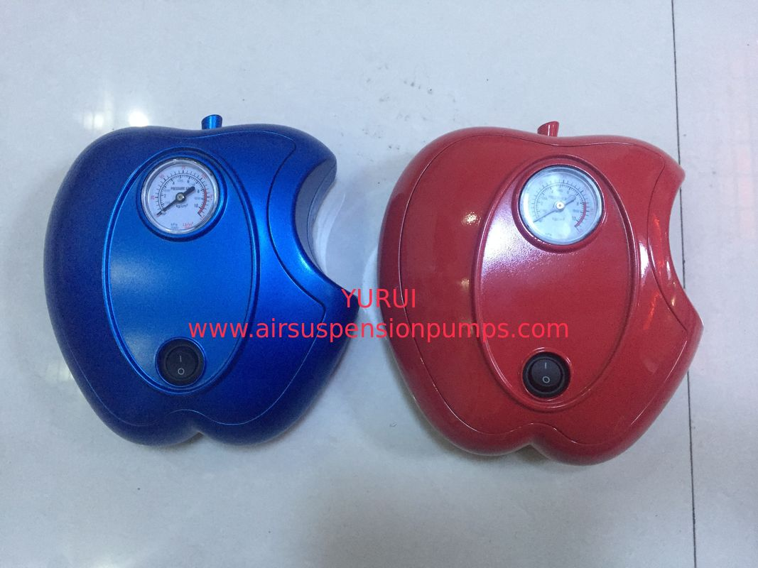 Apple Shape Car DC12V Car Air Pump Plastic Fast Inflation , Blue / Red Color