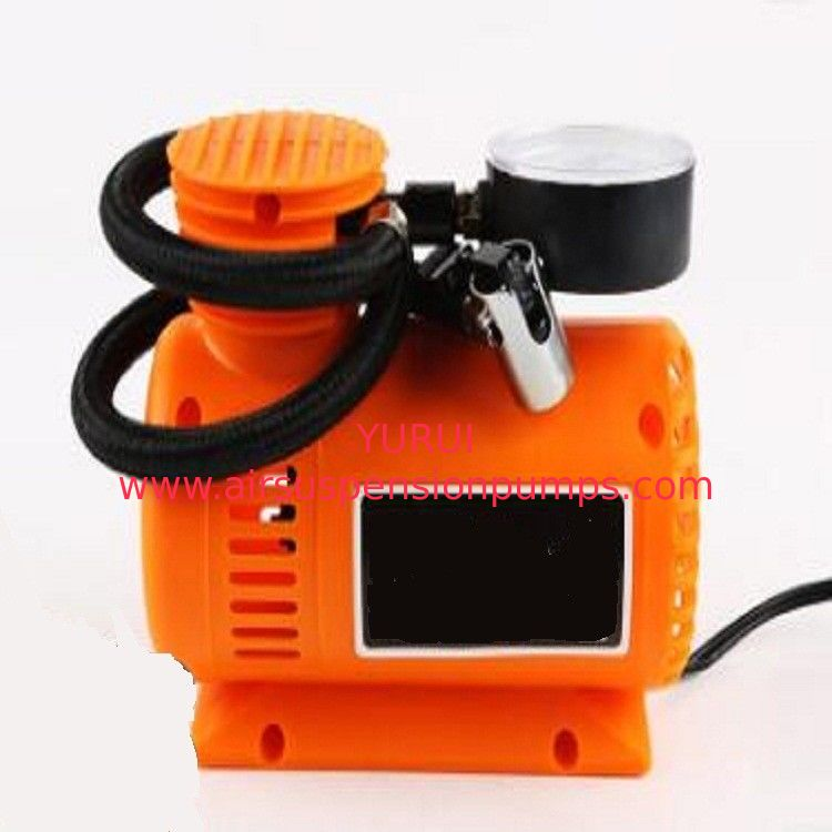 Orange Auto Air Compressor Portable , 250psi Plastic Air Pump For Car Tires
