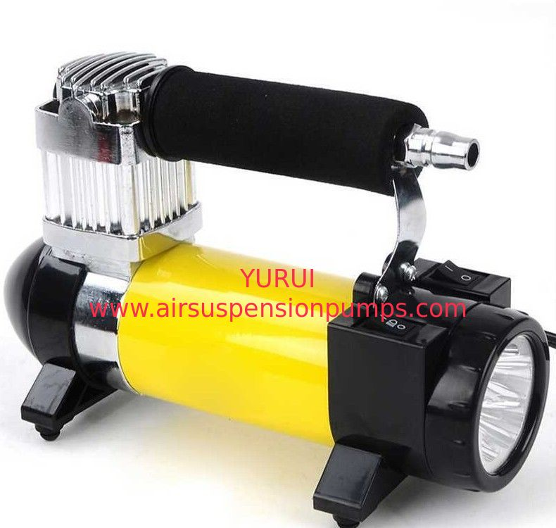 Dc 12v Metal Air Compressor , 100 Psi High Power Compressor With Lamp
