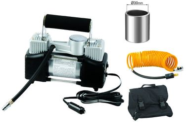 Портативный Yurui Metal 2 цилиндра Воздушный компрессор Комплект шлангов сумка Gauge